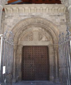 Fig. 2. Portail méridional de la cathédrale de Jaca. État actuel (photo : auteur).