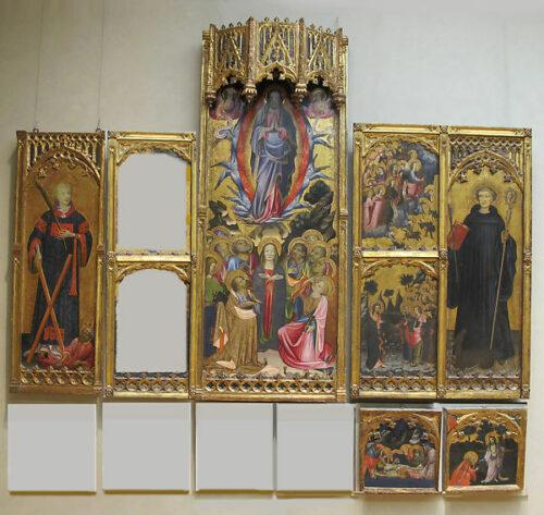 Fig. 1 - Miquel Alcanyis (att.), Retable de saint Vicente Gil, reconstitution (c) Metropolitan Museum, New York.