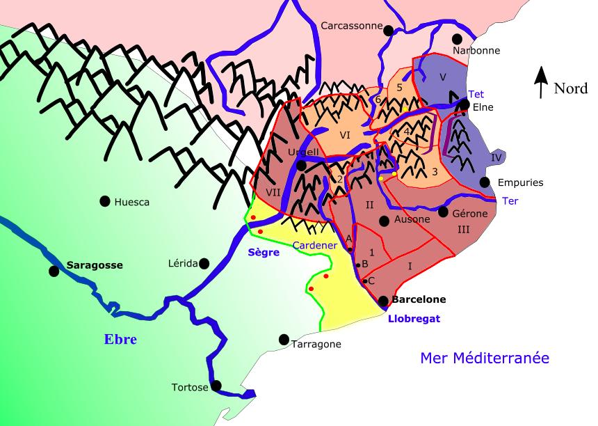Réunion dynastique des comtés de la Marche d'Espagne au tournant du Xe siècle et reprise de l'expansion frontalière, par l'auteur